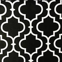 Textil - Orient; 100 % bavlna, šírka 160 cm, cena za 0,5 m (čierno-biela) - 10557777_