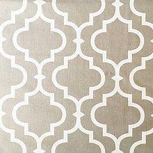 Textil - Orient; 100 % bavlna, šírka 160 cm, cena za 0,5 m (sivo-biela) - 10557804_