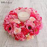Dekorácie - Ružový venček - 10559031_