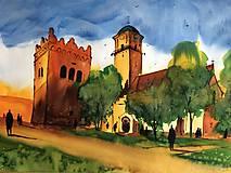 Obrazy - Kostol sv Egidia a zvonica v Poprade - 10558461_