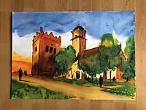 Obrazy - Kostol sv Egidia a zvonica v Poprade - 10558462_