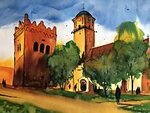 Obrazy - Kostol sv Egidia a zvonica v Poprade - 10558463_
