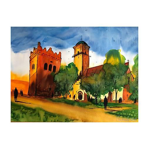 Kostol sv Egidia a zvonica v Poprade