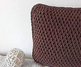 Úžitkový textil - Vankúše Nordic Day Chocolate - 10556795_