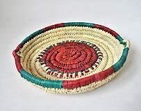 Košíky - Pletený palmový kôšík | Africano fruit plate - 10557920_