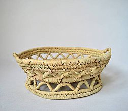 Dekorácie - Pletený palmový kôšík   Pedestal plate Arabic design - 10557878_