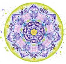 """Obrazy - Mandala - """"Fialka"""" - 10558715_"""