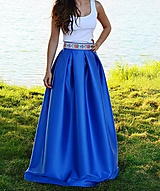 Sukne - Folklórna MAXI sukňa s vreckami - 10557125_
