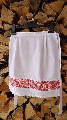 Iné oblečenie - Svadobná zásterka pre nevestu červená - 10557261_