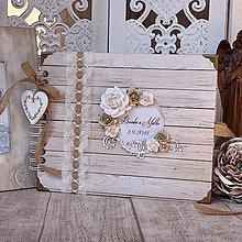 Papiernictvo - Svadobný fotoalbum - kniha hostí - 10558831_