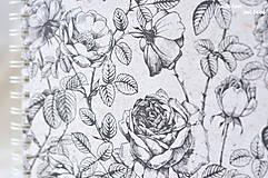 Papiernictvo - Svadobný fotoalbum (s ružami) - 10560016_