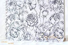 Papiernictvo - Svadobný fotoalbum (s ružami) - 10560018_