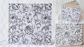 Papiernictvo - Svadobný fotoalbum (s ružami) - 10560020_