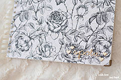 Papiernictvo - Svadobný fotoalbum (s ružami) - 10560021_