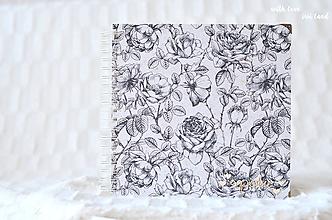 Papiernictvo - Svadobný fotoalbum (s ružami) - 10560017_