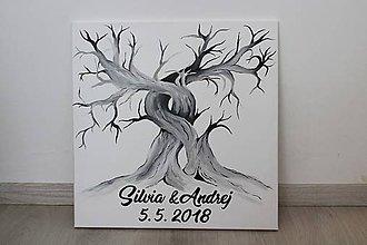 Obrazy - Svadobný strom 50x50 - 10559553_