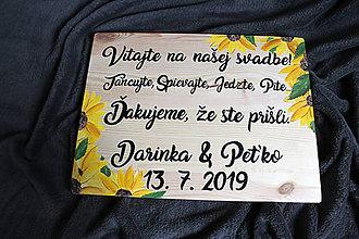 Tabuľky - Uvítacia tabuľa 30x40 cm - 10559943_