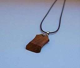 Náhrdelníky - Drevený náhrdelník - Z orecha - 10558889_
