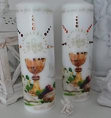 Svietidlá a sviečky - Dekoračná sviečka na 1 sv. prijímanie. - 10558226_
