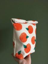 Úžitkový textil - Ušimi desiatové vrecúško pomaranč - 10556764_