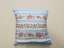 Úžitkový textil - vankúš modrý - 10558841_