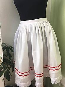 Sukne - dievčenská sukňa biela - 10558766_