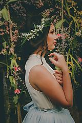 """Ozdoby do vlasov - Kvetinová aplikácia """"rosa na konvalinkách"""" - 10557649_"""