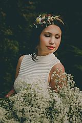 """Ozdoby do vlasov - Kvetinová čelenka """"ráno čo trávou vonia"""" - 10558741_"""