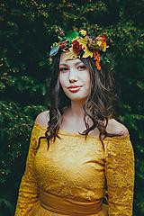 """Ozdoby do vlasov - Kvetinový polvenček """"prvé slnko v tráve"""" - 10558820_"""