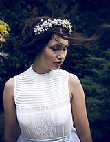 """Ozdoby do vlasov - Kvetinová čelenka """"nebo nad nami""""  (Modrá) - 10559177_"""
