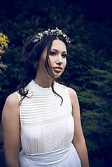 """Ozdoby do vlasov - Kvetinová čelenka """"nebo nad nami""""  (Modrá) - 10559181_"""