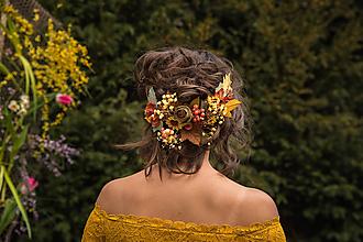"""Ozdoby do vlasov - Kvetinová aplikácia """"slnko v lese"""" - 10557415_"""