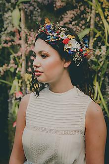 """Ozdoby do vlasov - Folk kvetinová aplikácia """"zakvitnuté stráne"""" - 10557553_"""