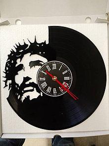 Hodiny - nástenné hodiny z lp platne Ježis - 10557628_