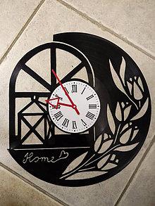 Hodiny - nástenné hodiny z lp platne - 10557634_