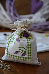 Úžitkový textil - Vrecká na levanduľu - 10556906_