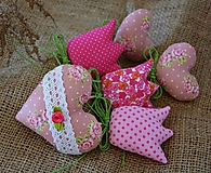 Dekorácie - Jarná dekorácia - ružová SADA - 10558296_