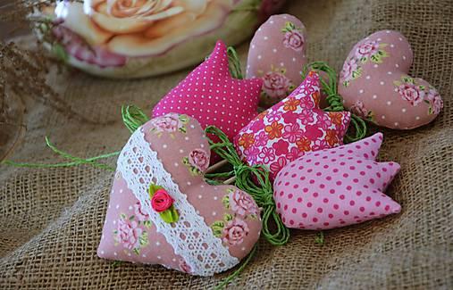 Jarná dekorácia - ružová SADA