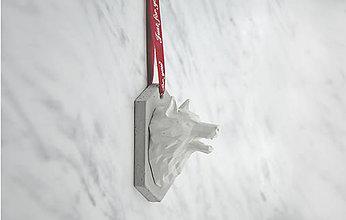 Socha - Betónová busta Wolf (Červená) - 10557146_