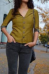 - Zelené sako v army štýle - 10558609_