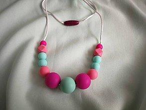 Detské doplnky - Silikónový dojčenský náhrdelník