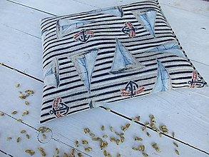 Úžitkový textil - Námornícky špaldový  vankúš - 10556194_
