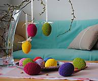 Dekorácie - Háčkované farebné veľkonočné vajíčka (kraslice) - 10559968_