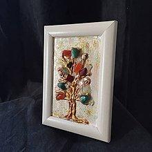 Obrazy - 3D obraz / mix minerálov / stromček šťastia 1 - 10557922_