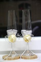Nádoby - ozdoby na svadobné poháre - 10560056_