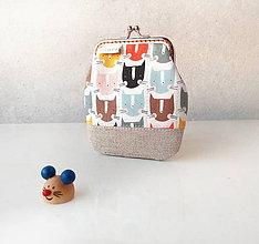 Peňaženky - Peňaženka Mačacie hlavičky - M - 10558770_