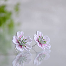 Náušnice - Květ sakury na ouška - 10556167_
