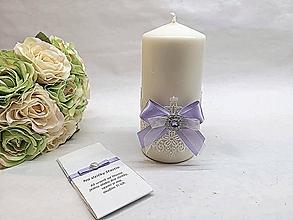 Svietidlá a sviečky - Svadobná sviečka - 10559768_