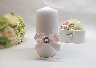 Svietidlá a sviečky - Svadobná sviečka - 10559792_