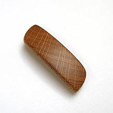 Ozdoby do vlasov - Drevená spona do vlasov malá - dubová priečna - 10559269_